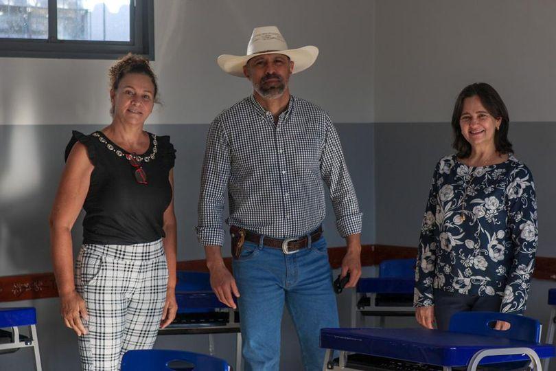Amauri Ribeiro visita escola em Bela Vista de Goiás e ressalta investimento de quase R$ 4 milhões para reforma de escolas na cidade