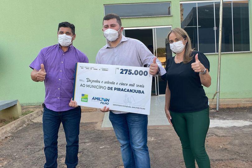 Parceiro do prefeito Claudiney Bode, deputado Amilton Filho envia recursos para Piracanjuba