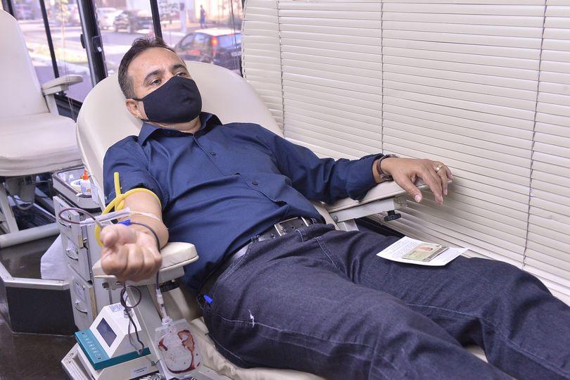 Nesta terça-feira, quase 50 pessoas fizeram doação de sangue em unidade móvel do Hemocentro instalada na Alego