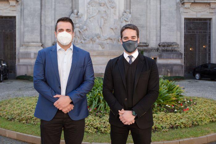 Deputado Gustavo Sebba visita governador do Rio Grande do Sul, Eduardo Leite