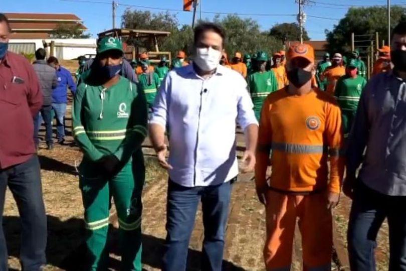 Ao lado de Roberto Naves, Amilton Filho acompanha mutirão de serviços da Prefeitura de Anápolis